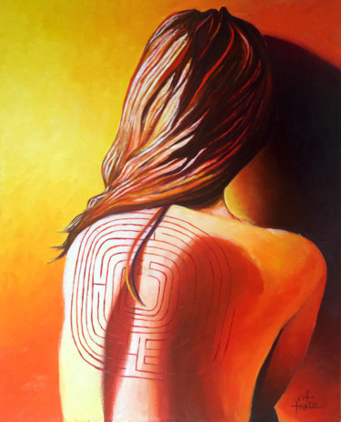 """Painting titled """"LABYRINTH (2021)"""" by Vito Thiel, Original Art, Oil"""