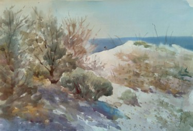 """Painting titled """"On the shore"""" by Vitya Zakharchenko, Original Art, Watercolor"""