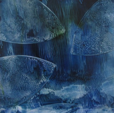 Fish Painting, oil, abstract, artwork by Véronique Lenfant