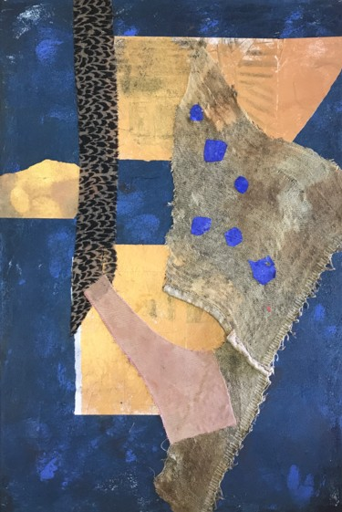 """Collages titled """"COMPOSITION 24X35""""…"""" by Olga Volna, Original Art, Acrylic"""