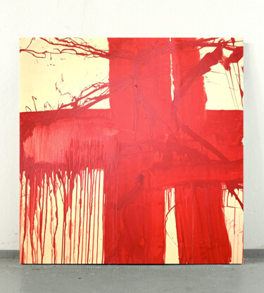 """Painting titled """"Simple red 6"""" by Viktoriia Dmytriv, Original Art, Acrylic"""