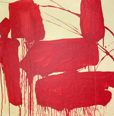 """Painting titled """"Simple red 15"""" by Viktoriia Dmytriv, Original Art, Acrylic"""