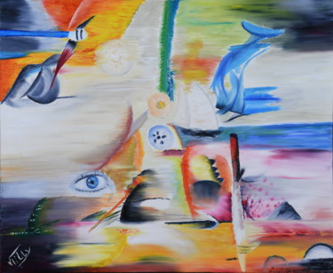 Abstract Painting, oil, abstract, artwork by Véro Tilly Vtilly-Art