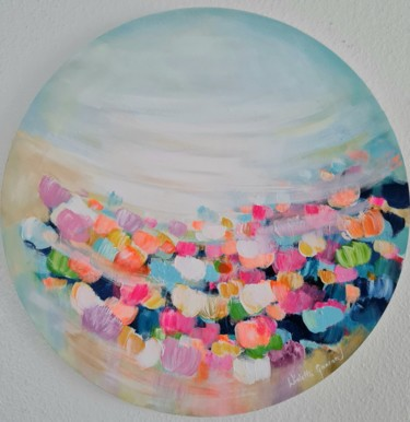 Flower Painting, acrylic, abstract, artwork by Wioletta Gancarz