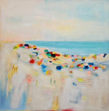 Beach Painting, acrylic, impressionism, artwork by Wioletta Gancarz