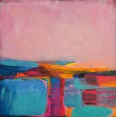 Landscape Painting, acrylic, abstract, artwork by Wioletta Gancarz