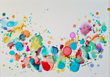 Color Painting, ink, abstract, artwork by Wioletta Gancarz