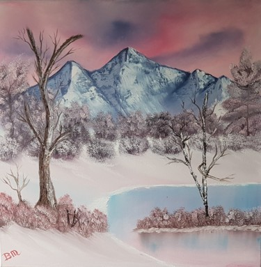 """Painting titled """"Snowy mountains"""" by Bettie Melieste, Original Art, Oil"""