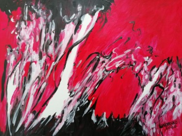 """Painting titled """"Only Red"""" by Wabyanko, Original Art, Acrylic"""
