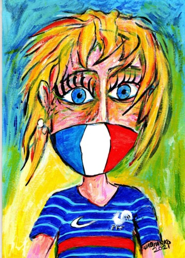 """Painting titled """"Euro 2020 in 2021 F…"""" by Wabyanko, Original Art, Acrylic"""