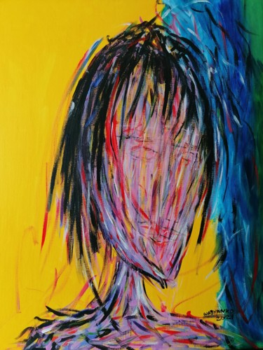 """Painting titled """"Abstract portrait y…"""" by Wabyanko, Original Art, Acrylic"""