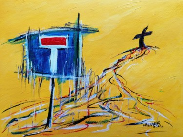 """Painting titled """"No Issue"""" by Wabyanko, Original Art, Acrylic"""