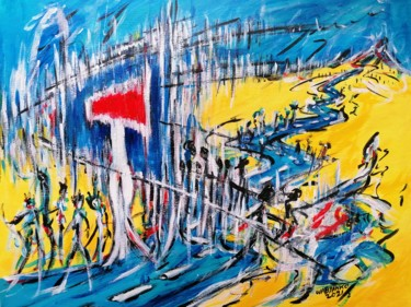 """Painting titled """"No Issue 03 road tr…"""" by Wabyanko, Original Art, Acrylic"""