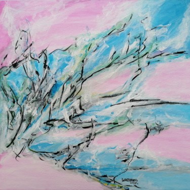 """Painting titled """"E Blue Abstraction"""" by Wabyanko, Original Art, Acrylic"""