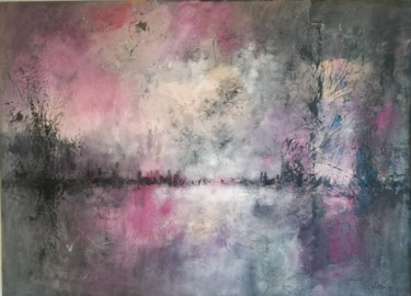Landscape Painting, acrylic, abstract, artwork by Valérie Morin
