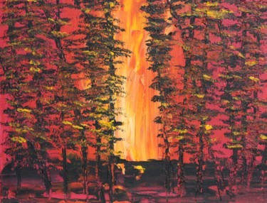 """Painting titled """"Forest Fire"""" by Ward Weiss, Original Art, Acrylic"""