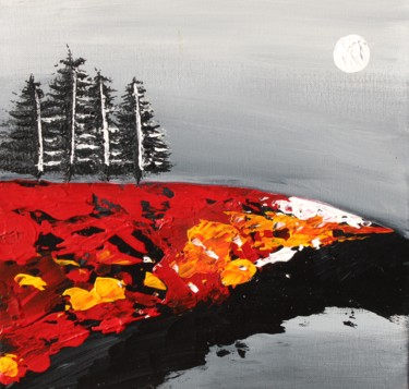 """Painting titled """"Autumn Sunset"""" by Ward Weiss, Original Art, Acrylic"""