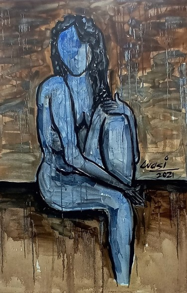 """Painting titled """"Figurative Painting…"""" by Wasi Haider Artist, Original Art, Oil"""