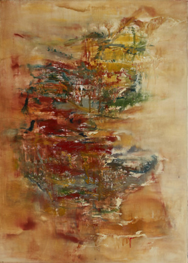 """Painting titled """"Wei Xiong I"""" by Wei Xiong, Original Art, Oil Mounted on Stretcher frame"""
