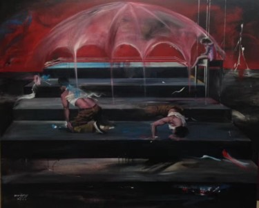 """Painting titled """"Lost stage"""" by Weilong Chen, Original Art, Pigments"""