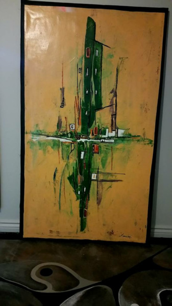 """Painting titled """"City abstract"""" by weixmar, Original Art,"""