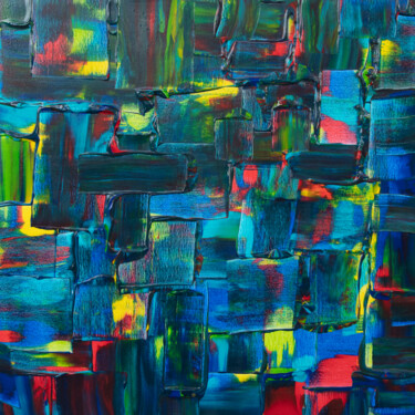 """Painting titled """"City scape"""" by Wietske Otter, Original Art, Acrylic"""