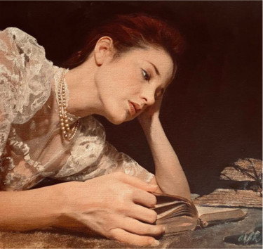 Painting, acrylic, figurative, artwork by William Oxer F.R.S.A.