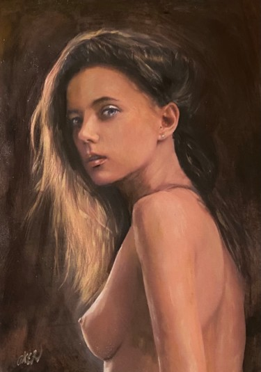 Nude Painting, oil, figurative, artwork by William Oxer F.R.S.A.