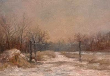 Painting, oil, impressionism, artwork by William Dunn