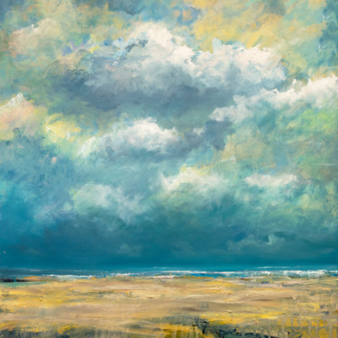 """Painting titled """"North Sea coast #61"""" by Wimvandewege, Original Art, Oil Mounted on Stretcher frame"""