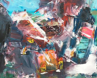 Abstract Painting, acrylic, abstract, artwork by Wioleta Frączek