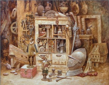 """Painting titled """"Still-life with a h…"""" by Vadim Voitekhovitch, Original Art, Oil"""