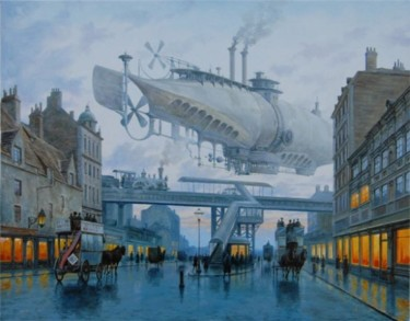 """Painting titled """"The past future by…"""" by Vadim Voitekhovitch, Original Art, Oil"""