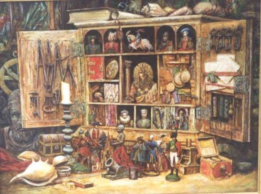 """Painting titled """"The Collection"""" by Vadim Voitekhovitch, Original Art,"""