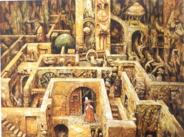 """Painting titled """"The Entre into the…"""" by Vadim Voitekhovitch, Original Art,"""