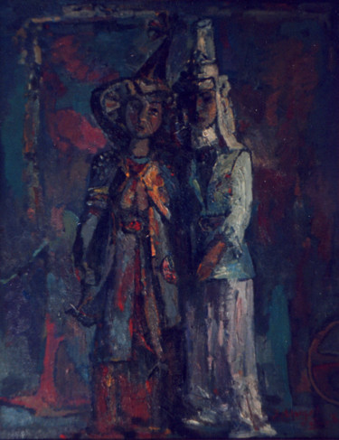 """Painting titled """"BAYAN AND TANSYK"""" by Kabyl Khalykov, Original Art, Oil"""