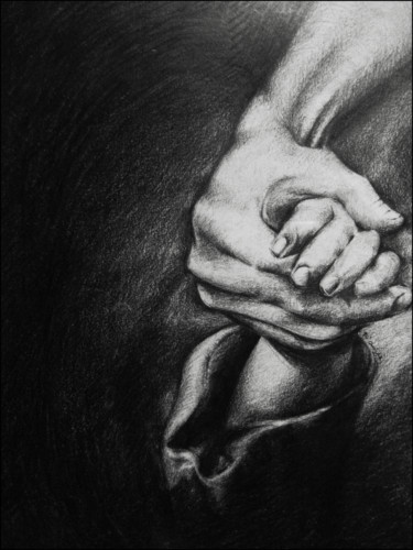 """Drawing titled """"Silence"""" by Xristastavrou, Original Art, Pencil"""