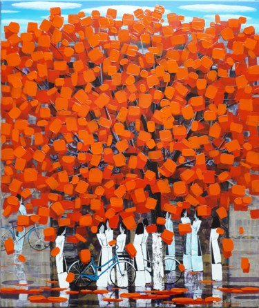 """Painting titled """"After school 18"""" by Xuan Khanh Nguyen, Original Art, Acrylic"""