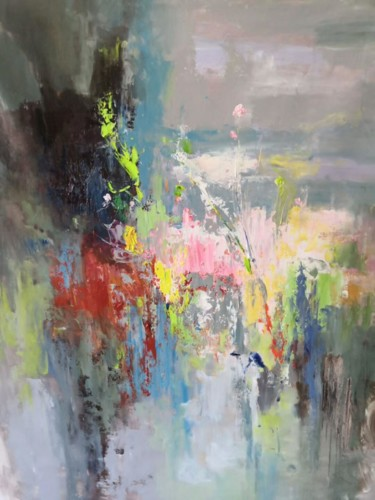"""Painting titled """"Abstract B02"""" by Yakir Zendo, Original Art, Oil"""