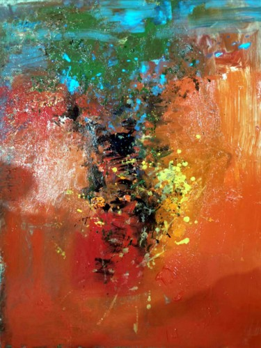 """Painting titled """"Abstract 034"""" by Yakir Zendo, Original Art, Oil"""