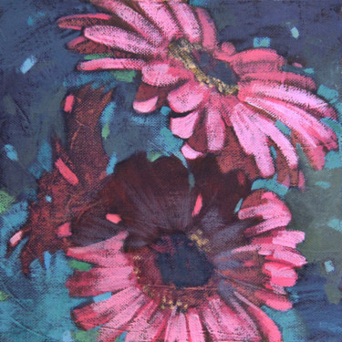 Flower Painting, acrylic, impressionism, artwork by Leonova Natalia