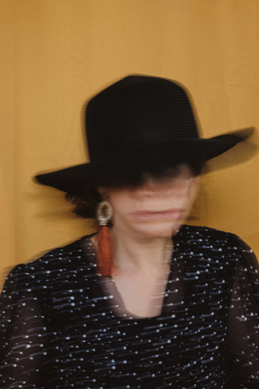 """Photography titled """"LADY IN BLACK HAT"""" by Yana Yushkevich, Original Art, Digital Photography"""