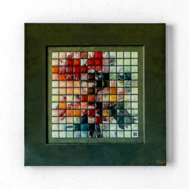 """Painting titled """"Flowers"""" by Yann Faisant, Original Art, Resin Mounted on Wood Panel"""