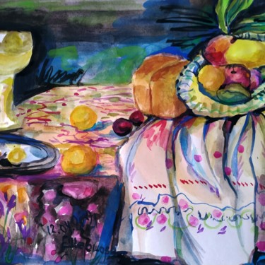 Still life Painting, watercolor, figurative, artwork by Елена Шершова