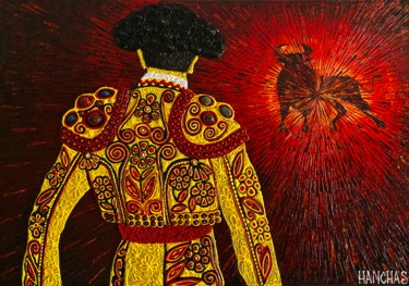 """Painting titled """"Before the Fight"""" by Yul Hanchas, Original Art, Acrylic Mounted on Stretcher frame"""