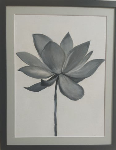 """Painting titled """"triptych """"Lotuses"""""""" by Yulia Sheverova, Original Art, Oil Mounted on Cardboard"""