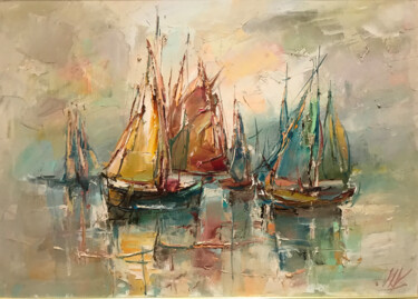 """Painting titled """"in the sea"""" by Yuri Kovachev, Original Art, Oil Mounted on Stretcher frame"""