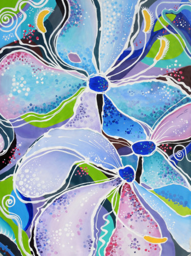 """Painting titled """"Soul of life""""floral…"""" by Alexandra Dobreikin, Original Art, Acrylic Mounted on Stretcher frame"""