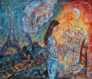 Everyday Life Painting, oil, expressionism, artwork by Yvan Philmer