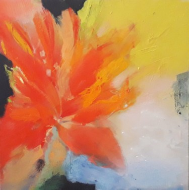 Flower Painting, oil, expressionism, artwork by Ilgvars Zalans